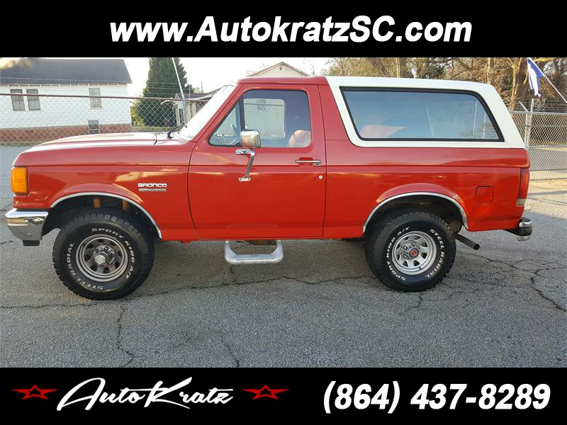 1987 ford bronco eddie bauer in anderson sc used cars for sale on. Black Bedroom Furniture Sets. Home Design Ideas